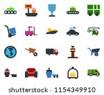 colored vector icon set  ... | Shutterstock .eps vector #1154349910