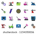 colored vector icon set  ... | Shutterstock .eps vector #1154350036