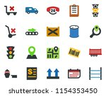 colored vector icon set  ... | Shutterstock .eps vector #1154353450