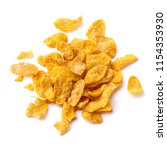 pile of the cornflakes on white ... | Shutterstock . vector #1154353930