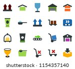 colored vector icon set  ... | Shutterstock .eps vector #1154357140