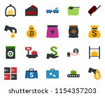 colored vector icon set  ... | Shutterstock .eps vector #1154357203