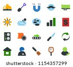 colored vector icon set  ... | Shutterstock .eps vector #1154357299