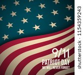 9 11 patriot day background.... | Shutterstock .eps vector #1154359243