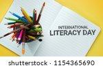international literacy day.... | Shutterstock . vector #1154365690