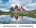 mountains reflection on the... | Shutterstock . vector #1154366896