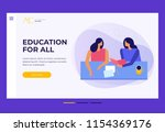 concept of education for all.... | Shutterstock .eps vector #1154369176