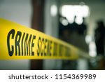 crime concept by police line...   Shutterstock . vector #1154369989
