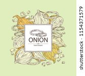 background with onion  rings ... | Shutterstock .eps vector #1154371579