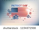 patriot day usa flag vector... | Shutterstock .eps vector #1154372500