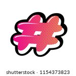 hash tag icon in pop art style. ... | Shutterstock .eps vector #1154373823