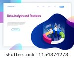 isometric web banner data... | Shutterstock .eps vector #1154374273