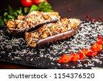 portuguese cuisine. baked...   Shutterstock . vector #1154376520