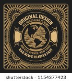 vintage design with engraving... | Shutterstock .eps vector #1154377423