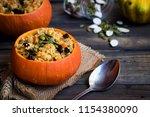 traditional russian millet... | Shutterstock . vector #1154380090
