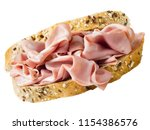 close up of italian mortadella... | Shutterstock . vector #1154386576
