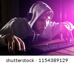 young male video game addict in ...   Shutterstock . vector #1154389129