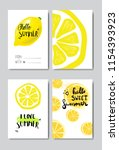 set hello summer lemon badge... | Shutterstock .eps vector #1154393923