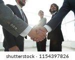 business concept handshake... | Shutterstock . vector #1154397826