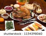 roasted pepper turkey for... | Shutterstock . vector #1154398060