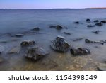 beautiful sunset on the... | Shutterstock . vector #1154398549