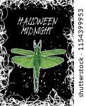 halloween black white... | Shutterstock .eps vector #1154399953