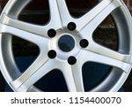 second hand alloy wheels in...   Shutterstock . vector #1154400070