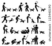 man dog training playing pet... | Shutterstock .eps vector #115440190