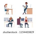 office fun. people work in... | Shutterstock .eps vector #1154403829