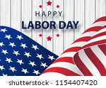 waving american flag with... | Shutterstock .eps vector #1154407420