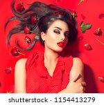 beauty sexy model girl lying on ... | Shutterstock . vector #1154413279