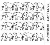 pattern of elephants background ...   Shutterstock .eps vector #1154413729