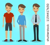 a man with various appearances   Shutterstock .eps vector #1154417650
