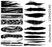 grunge brushes | Shutterstock .eps vector #115442140