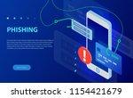 internet phishing  hacked login ... | Shutterstock .eps vector #1154421679