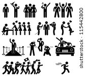 Idol Celebrity VIP VVIP Politician Singer Actor Movie Star Fans Stick Figure Pictogram Icon