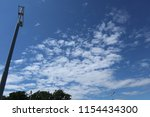 blue sky  treetops  clouds and... | Shutterstock . vector #1154434300