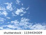 blue sky  clouds. cloudscape. | Shutterstock . vector #1154434309