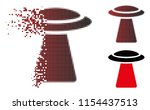 vector ufo ray icon in...   Shutterstock .eps vector #1154437513