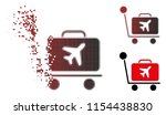 vector luggage trolley icon in...   Shutterstock .eps vector #1154438830