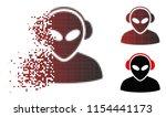 vector alien operator icon in...   Shutterstock .eps vector #1154441173