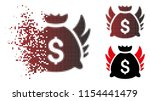 vector angel invest bag icon in ...   Shutterstock .eps vector #1154441479