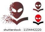 vector alien knowledge book...   Shutterstock .eps vector #1154442220