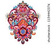 floral mandala pattern ... | Shutterstock . vector #1154442376