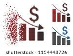 vector sales crisis chart icon...   Shutterstock .eps vector #1154443726