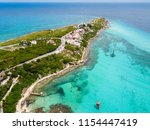 an aerial view of isla mujeres... | Shutterstock . vector #1154447419