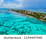 an aerial view of isla mujeres... | Shutterstock . vector #1154447440