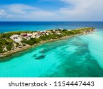 an aerial view of isla mujeres... | Shutterstock . vector #1154447443