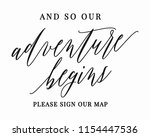 typography calligrpahy wedding... | Shutterstock .eps vector #1154447536