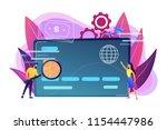 plastic bank card  microchip... | Shutterstock .eps vector #1154447986